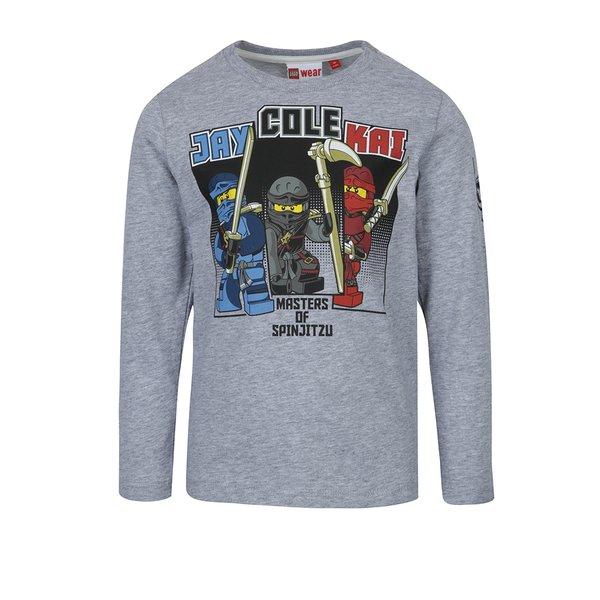 Bluză gri cu mâneci lungi și print frontal Lego Wear Teo pentru băieți de la Lego Wear in categoria Tricouri, camasi
