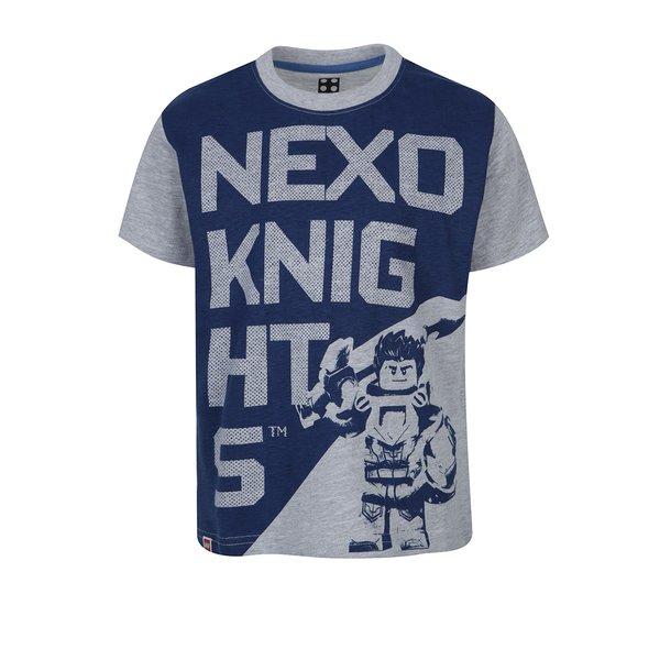 Tricou gri cu print frontal Lego Wear pentru băieți de la Lego Wear in categoria Tricouri, camasi