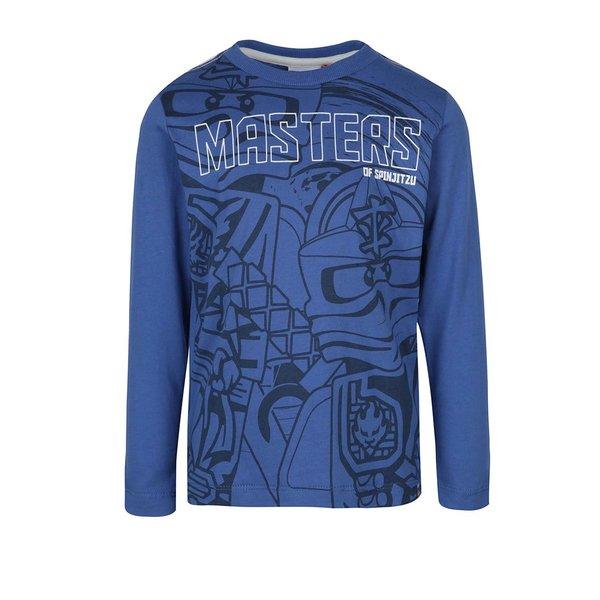 Bluză albastră cu print și mâneci lungi Lego Wear Teo de la Lego Wear in categoria Tricouri, camasi