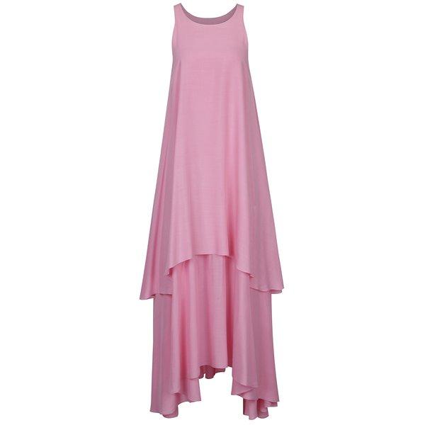 Rochie roz cu volane Aer Wear de la Aer Wear in categoria rochii casual
