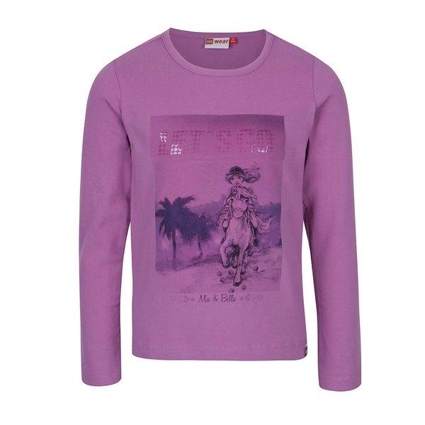 Bluză roz închis cu print pentru fete Lego Wear Tallys