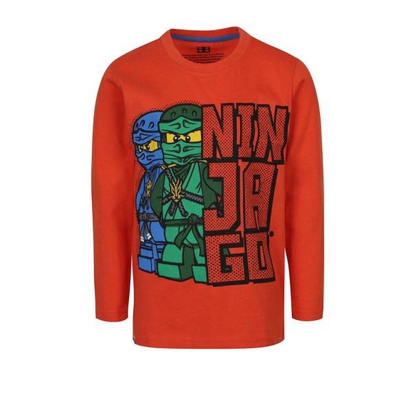 Bluză portocaliu aprins cu print Lego Wear pentru băieți de la Lego Wear in categoria Tricouri, camasi