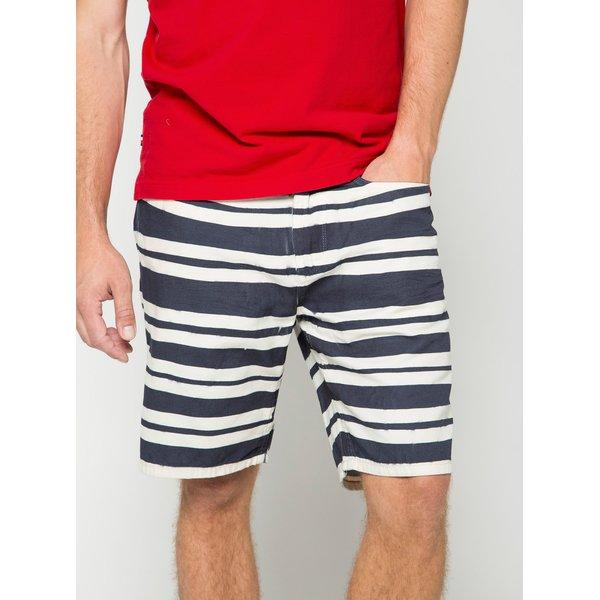 Pantaloni scurți albi&bleumarin cu model în dungi s.Oliver pentru bărbați