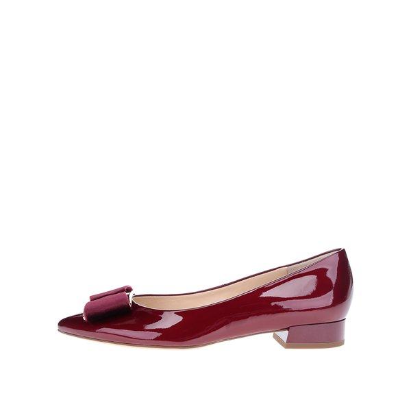 Pantofi roșu bordo din piele lăcuită – Högl de la Högl in categoria balerini
