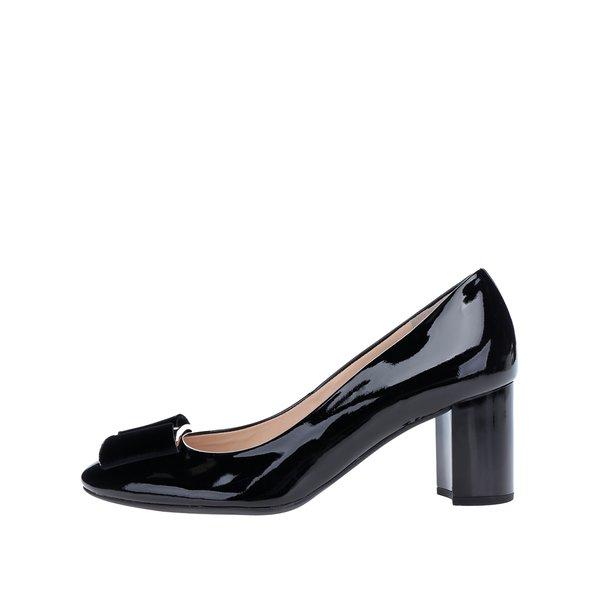 Pantofi negri din piele cu toc - Högl