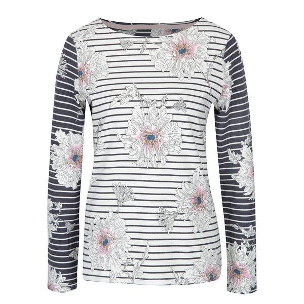 Bluză crem cu dungi albastre și flori pentru femei – Tom Joule Harbour de la Tom Joule in categoria bluze