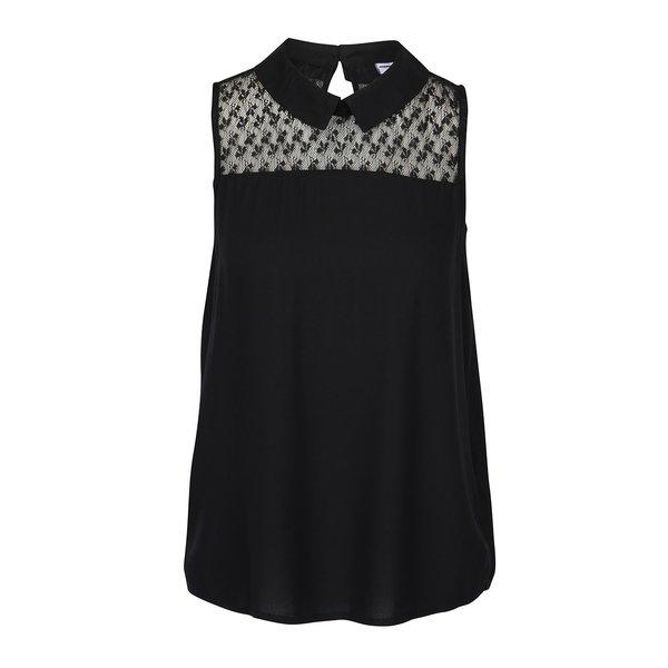 Bluză neagră cu dantelă – Jacqueline de Yong Nancy de la Jacqueline de Yong in categoria Topuri, tricouri, body-uri