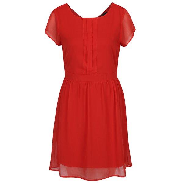 Rochie roșie midi de voal – VERO MODA Lisa de la VERO MODA in categoria rochii casual