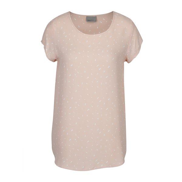 Tricou lejer roz piersică VERO MODA Mixy