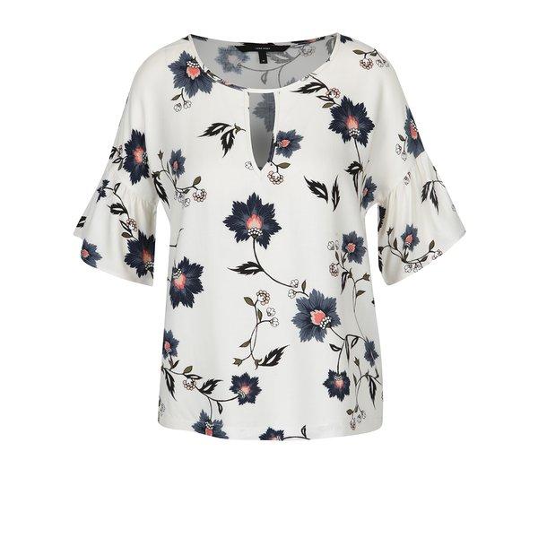 Bluză crem cu print floral multicolor VERO MODA Nadia de la VERO MODA in categoria Topuri, tricouri, body-uri