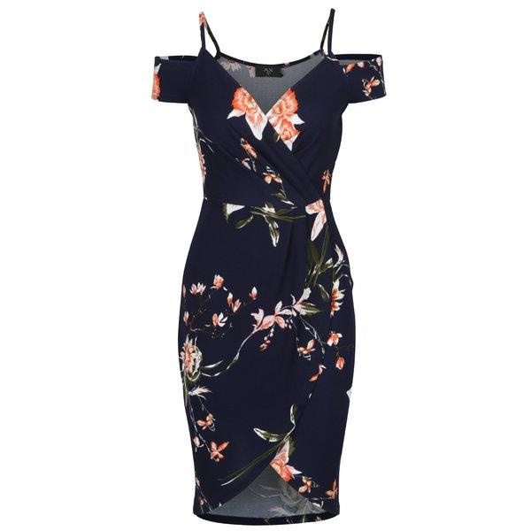 Rochie mulată bleumarin cu flori – AX Paris de la AX Paris in categoria rochii casual