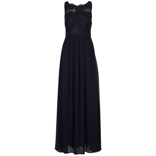 Rochie lungă bleumarin cu cu pliseuri - AX Paris