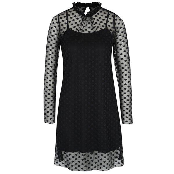 Rochie neagră cu aspect 2 în 1 - AX Paris