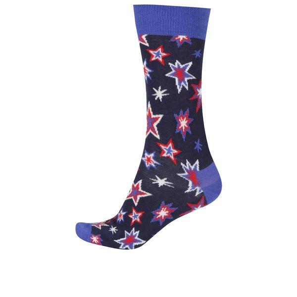 Șosete bleumarin înalte pentru bărbați Happy Socks Bang Bang de la Happy Socks in categoria BĂRBAȚI