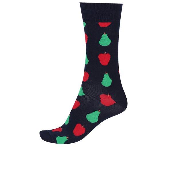 Șosete bleumarin înalte cu model Happy Socks Fruit
