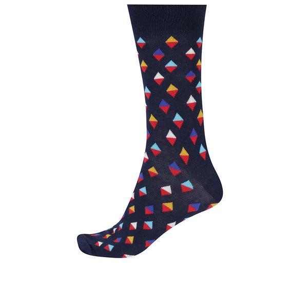 Șosete înalte cu model geometric pentru bărbați Happy Socks Mini Diamond de la Happy Socks in categoria BĂRBAȚI