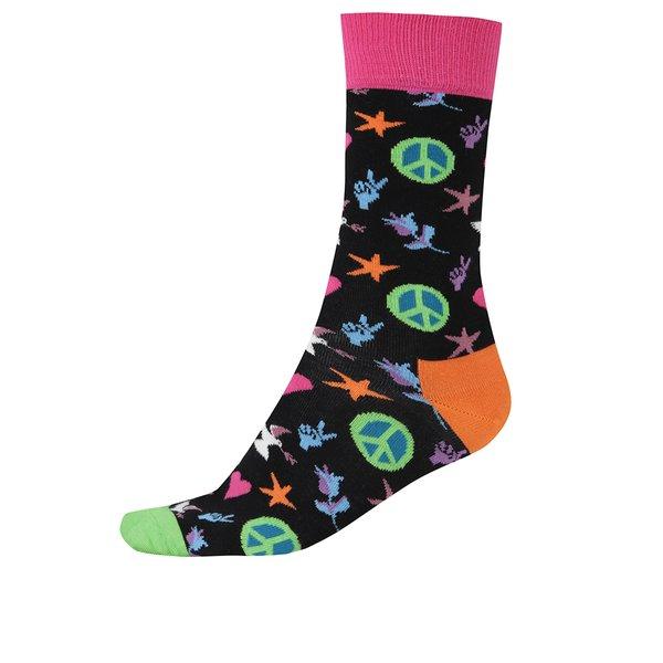 Șosete multicolore înalte pentru bărbați Happy Socks Peace And Love de la Happy Socks in categoria BĂRBAȚI