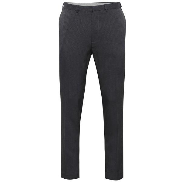 Pantaloni gri cu dungi - Burton Menswear London