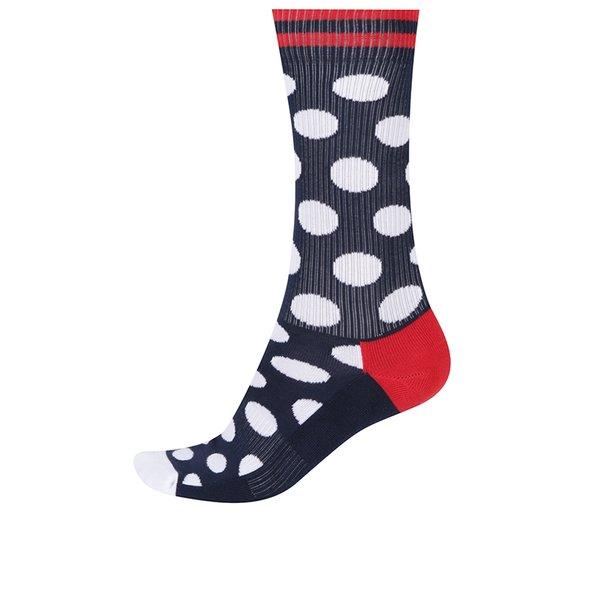 Șosete înalte bleumarin cu buline pentru bărbați Happy Socks Athletic Big Dot de la Happy Socks in categoria BĂRBAȚI