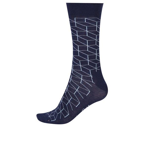 Șosete înalte bleumarin pentru bărbați Happy Socks Optic de la Happy Socks in categoria BĂRBAȚI