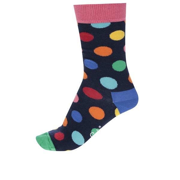 Sosete bleumarin cu buline Happy Socks Big Dot