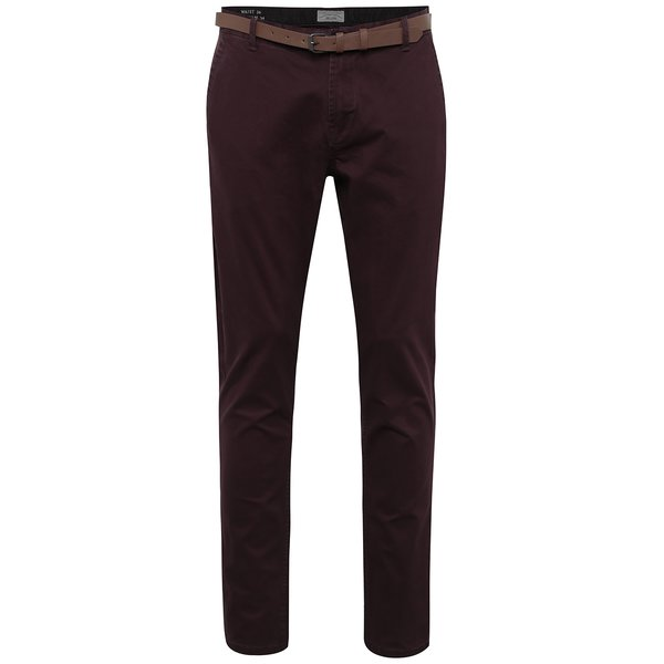 Pantaloni chino roșu bordo - ONLY & SONS Tarp