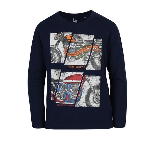 bluza bleumarin cu imprimeu pentru baieti – 5.10.15.
