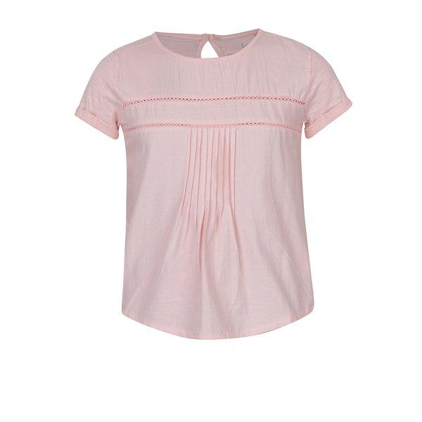 bluza roz deschis cu broderie ajurata pentru fete - 5.10.15.