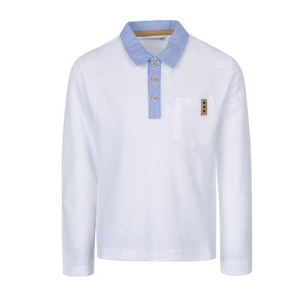 bluza polo alba pentru baieti 5.10.15.