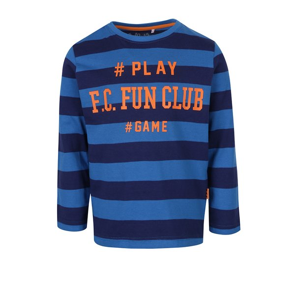 bluza cu dungi si print pentru baieti 5.10.15.