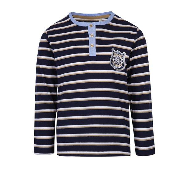 bluza bleumarin cu dungi si nasturi pentru baieti 5.10.15.