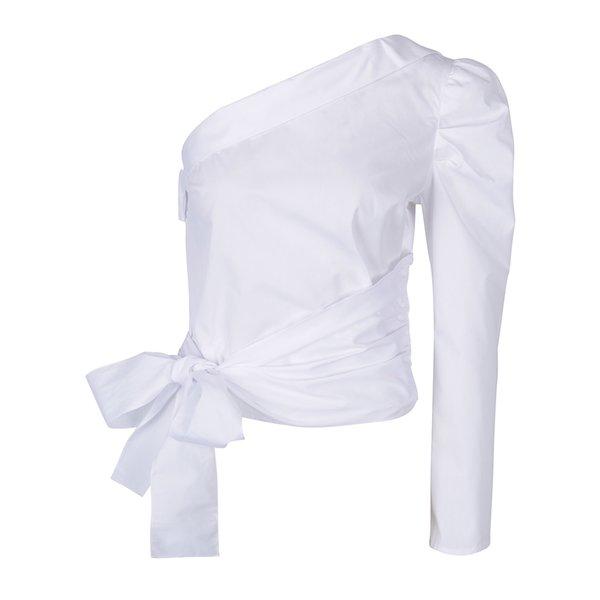 bluza alba asimetrica cu funda – Miss Selfridge
