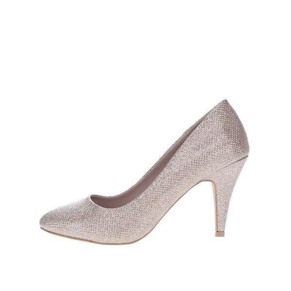 Pantofi aurii cu toc cui Dorothy Perkins