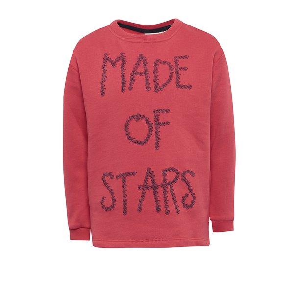 bluza rosie cu print text pentru fete - name it Kiki