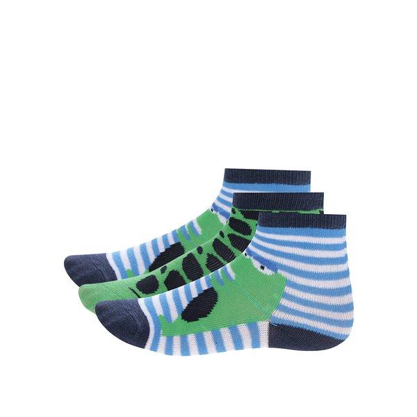 Sosete albastru & verde cu imprimeu pentru baieti - 5.10.15.