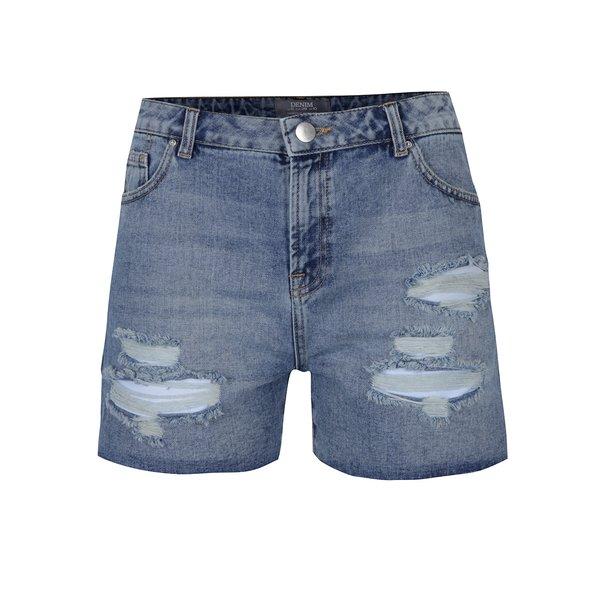 Pantaloni scurți din denim cu talie înaltă și aspect uzat Dorothy Perkins
