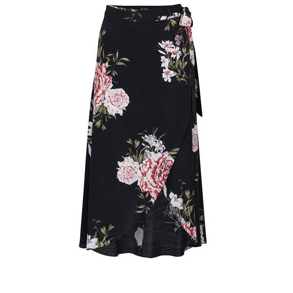 Fustă maxi neagră cu imprimeu floral - Miss Selfridge