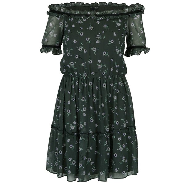 Rochie verde cu imprimeu floral - Miss Selfridge