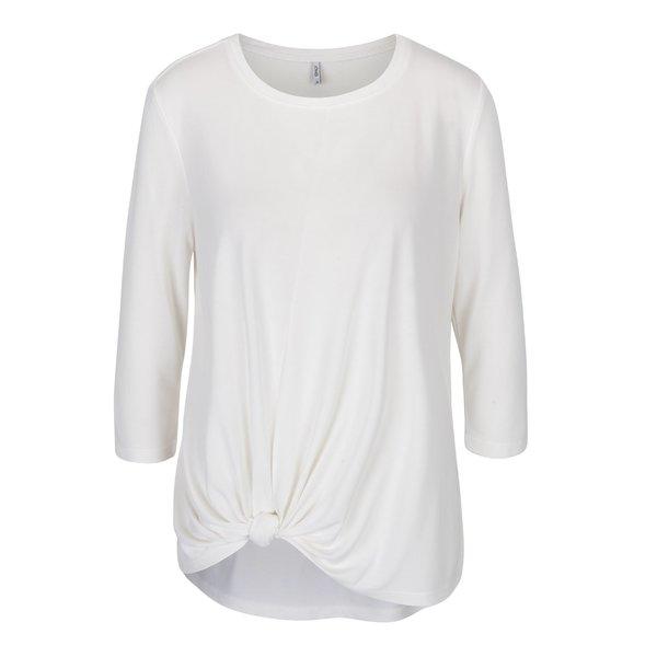 Bluză crem cu nod decorativ - ONLY Miley
