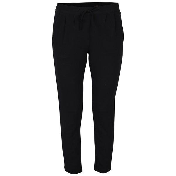 Pantaloni negri cu talie înaltă- Jacqueline de Yong Jazzle
