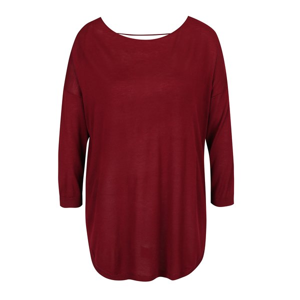 Pulover oversized roșu bordo - ONLY Sky