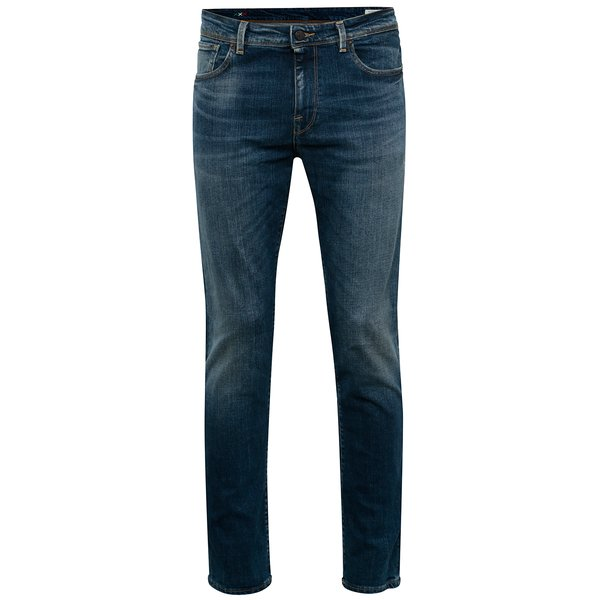 Blugi albaștri slim fit bărbați - Selected Homme Slim