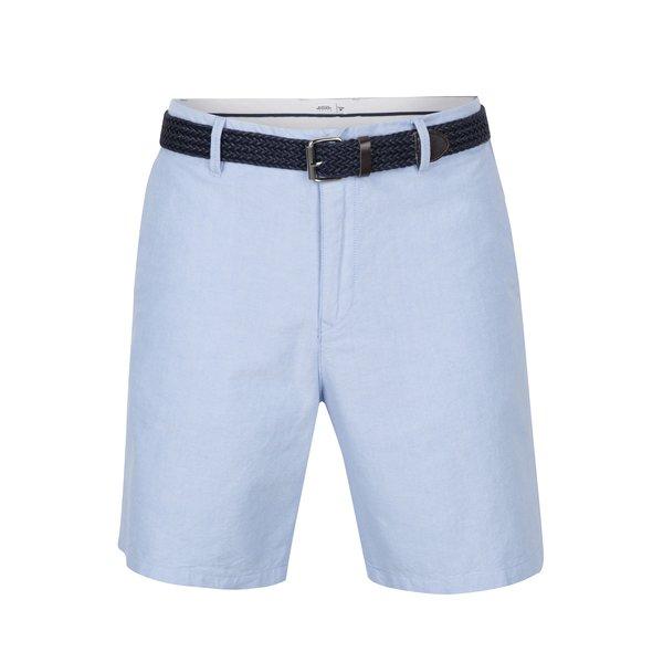 Pantaloni scurți bleu chino cu centură în talie - Burton Menswear London
