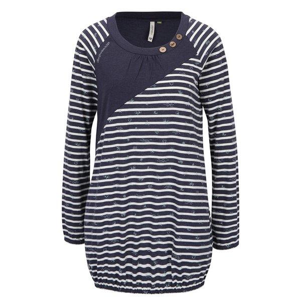 Bluză lungă bleumarin&alb cu mâneci lungi și dungi Ragwear Linny Organic