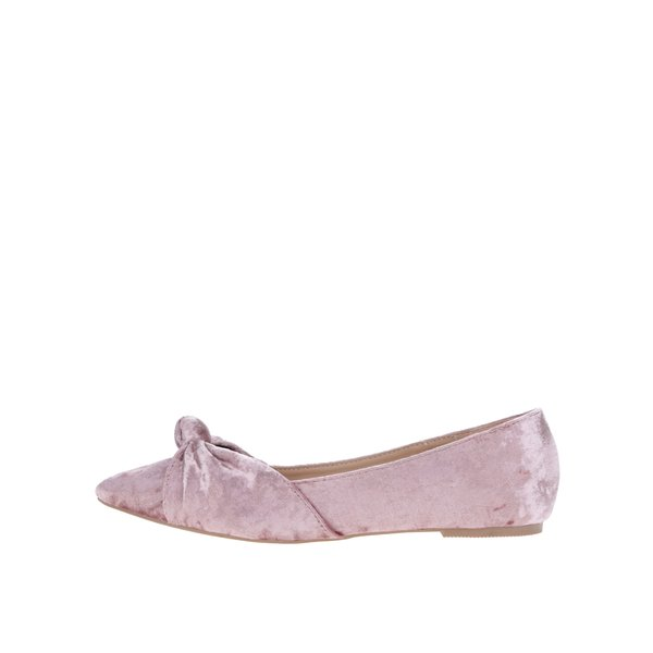Balerini roz prăfuit cu aspect catifelat - Dorothy Perkins