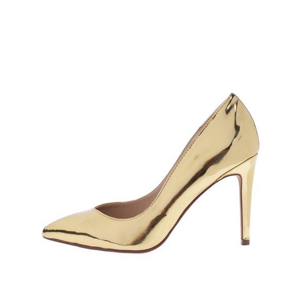 Pantofi stiletto aurii cu aspect lăcuit - Dorothy Perkins