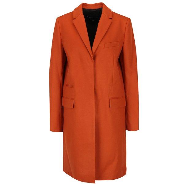 Palton portocaliu din lână și cașmir French Connection Platform