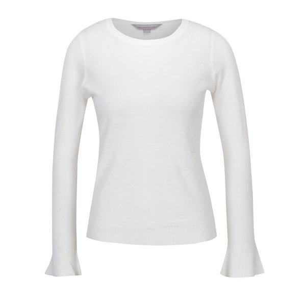 Pulover alb cu manșete ample Dorothy Perkins