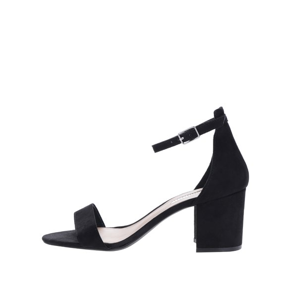 Sandale negre cu bareta si toc gros – Dorothy Perkins