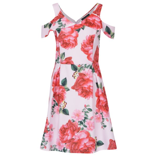 Rochie midi albă cu flori Dorothy Perkins